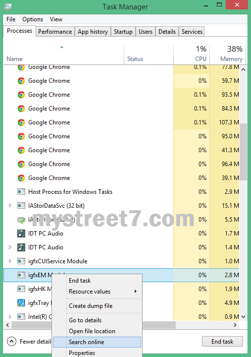 detalii despre proces windows task manager