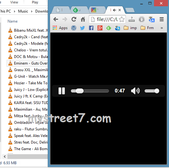 mp3 via Google Chrome mystreet7