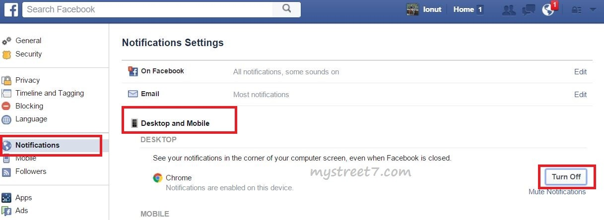 dezactivare notificari desktop facebook2