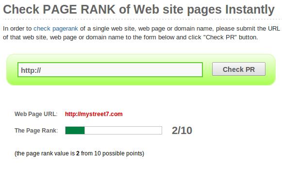 page rank checker