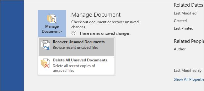 recuperare document nesalvat word
